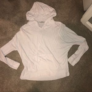 white hooded long sleeve